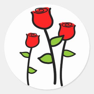 Three Roses Classic Round Sticker