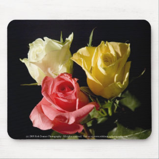 Three roses mouse pad