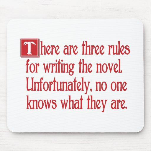 Three Rules Mouse Mat