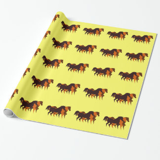 Three running horses Wrapping Paper