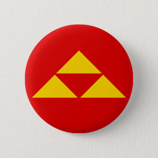 Three scales Mitsu-uroko 6 Cm Round Badge