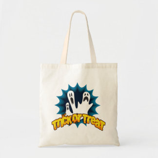 Three Scared Ghosts Halloween Tote Bag Budget Tote Bag