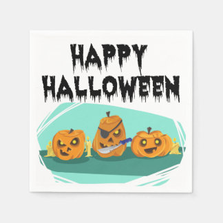 Three Scary Pumpkins – For Kids Paper Napkin