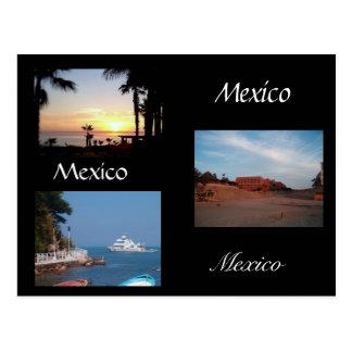 three scenes from Mexico Postcard