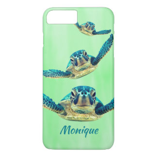 Three Sea Turtles Swimming iPhone 8 Plus/7 Plus Case