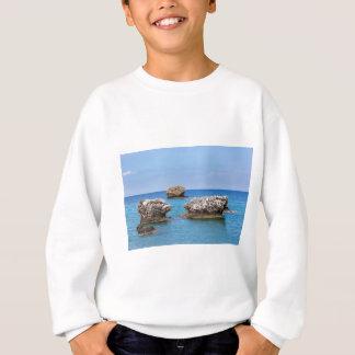 Three separate rocks offshore in sea sweatshirt