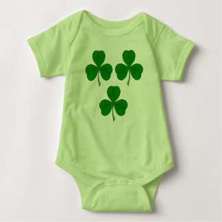 Three Shamrocks Baby Bodysuit