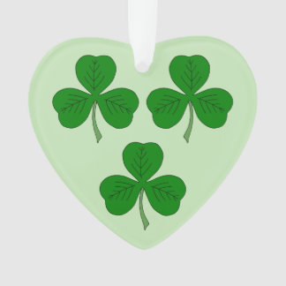 Three Shamrocks Ornament