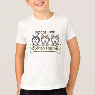 Three Siberian Huskies T-Shirt