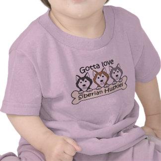 Three Siberian Huskies T Shirts