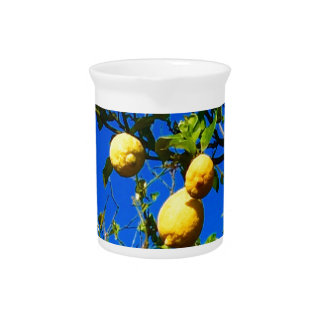 Three Sicilian Lemons Pitcher