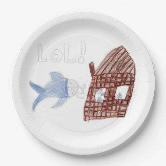 Three Silly Fish - Kids Fish Drawing Paper Plate