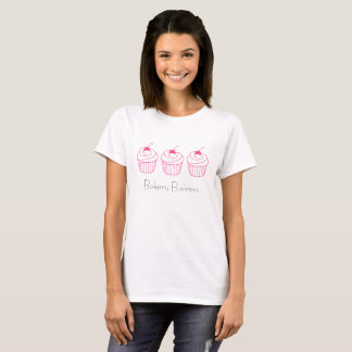 Three simple pink cupcakes customizable tshirt