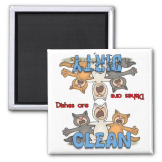 Three Singing Cats Dishwasher Magnet