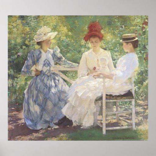 Three Sisters, Edmund Charles Tarbell Print