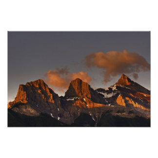 Three Sisters Sunrise Poster