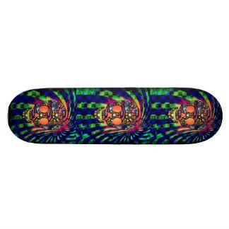 three skull skateboard
