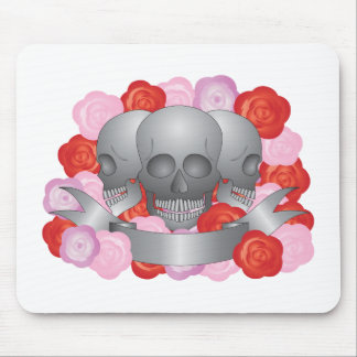 Three Skulls with Banner Mouse Pad