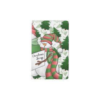 Three Snowman Carolers Pocket Moleskine Notebook