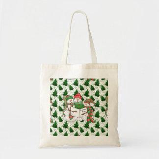 Three Snowman Carolers Tote Bag