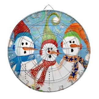 Three Snowmen Dartboard