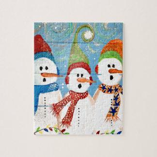 Three Snowmen Jigsaw Puzzle