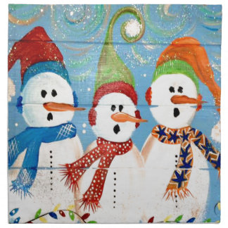Three Snowmen Napkin