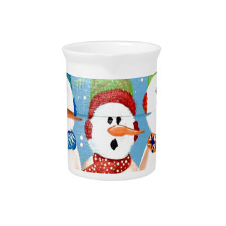 Three Snowmen Pitcher