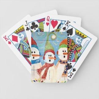 Three Snowmen Poker Deck