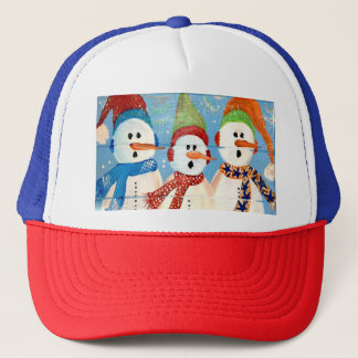 Three Snowmen Trucker Hat