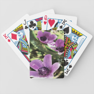 Three Spring Anemone Flowers Bicycle Playing Cards