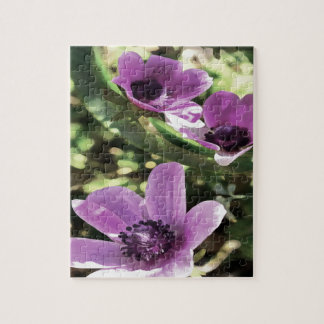 Three Spring Anemone Flowers Jigsaw Puzzle