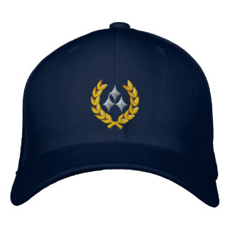 Three Star General Embroidered Hat