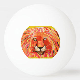 Three Star Ping Pong Ball with Bold Lion