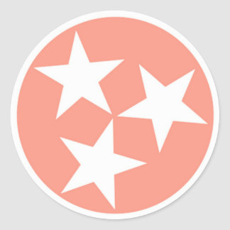 Three Star Tennessee State Flag Sticker