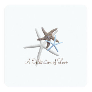 Three Starfish Celebration Wedding Card