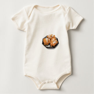 Three sugared fried fritters or oliebollen baby bodysuit