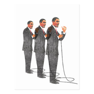 Three Suits - Obama Inauguration Postcard