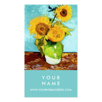 Three Sunflowers by Van Gogh Pack Of Standard Business Cards