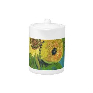 Three Sunflowers in a Vase, van Gogh