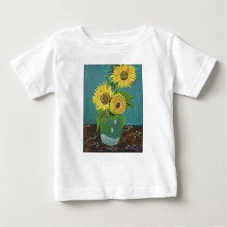 Three Sunflowers in a Vase, van Gogh Baby T-Shirt