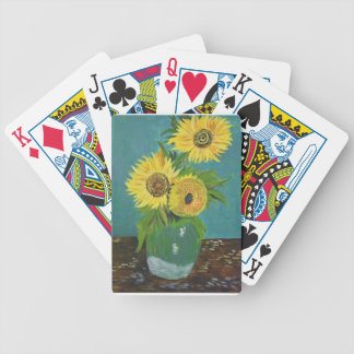 Three Sunflowers in a Vase, van Gogh Bicycle Playing Cards
