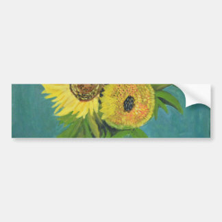 Three Sunflowers in a Vase, van Gogh Bumper Sticker