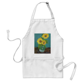 Three Sunflowers in a Vase, van Gogh Standard Apron