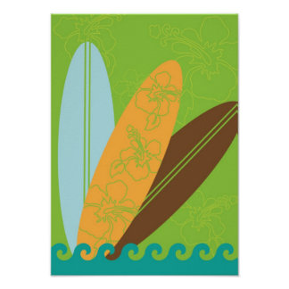 Three Surfboards Poster Print