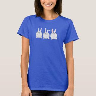 Three Sweet White Bunny Rabbits. T-Shirt