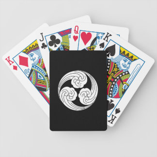 Three swirled waves bicycle playing cards