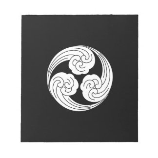 Three swirled waves notepad