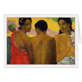 Three Tahitians by Paul Gauguin Card