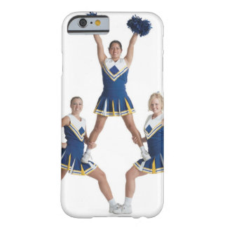 three teenage caucasian female cheerleaders in barely there iPhone 6 case
